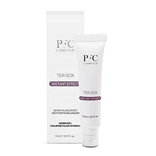 PFC Cosmetic Filler per Rughe localizzate, con Acido Ialuronico, Ter Sox Instant Effect 15ml, Concentrato con Argireline e Hialuronic Filling Spheres, per la cura personale di viso e pelle.