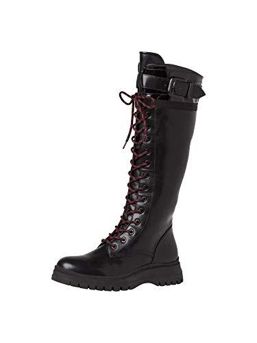 Tamaris Damen Stiefel 1-1-25620-25 001 weit Größe: 40 EU
