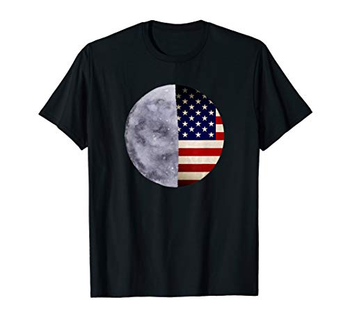 Apollo 11 50 Jahre Jubiläum Mondlandung 1969 Fahne T-Shirt