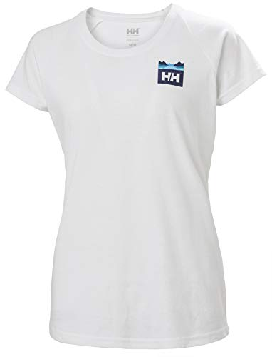 Helly Hansen W Nord Graphic Drop T-shirt, Camiseta de Manga Corta Mujer, Blanco (White), L