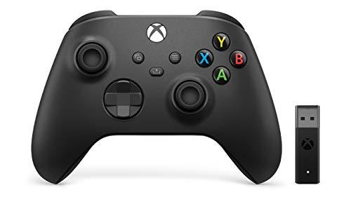 Microsoft Controller Wireless per Xbox, Nero Carbone + Adattatore Wireless per Windows 10