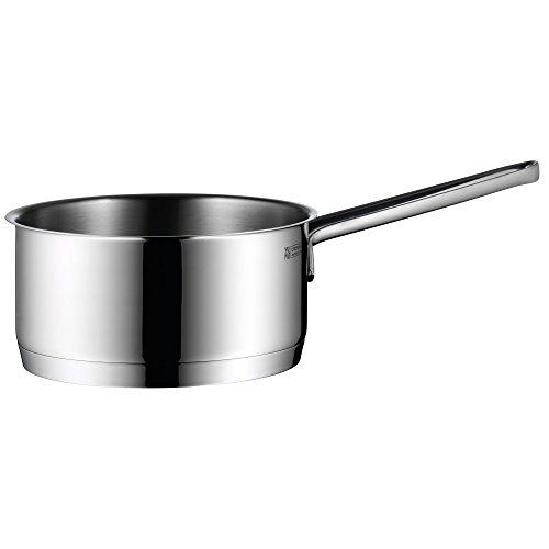 WMF Provence Plus Stielkasserolle, 16 cm, ohne Deckel, Kochtopf 1,4l, Cromargan Edelstahl poliert, Topf Induktion, unbeschichtet, backofengeeignet