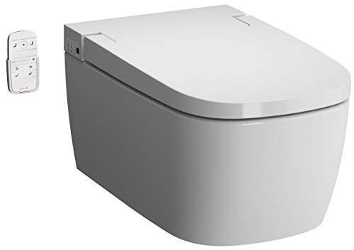 VitrA V-care 1.1 Basic Dusch-WC V-Care Spülrandlos Wand Hänge WC inkl. Kinderfunktion & Entkalkungsfunktion, Bidetfunktion Duschtoilette Fernbedienung
