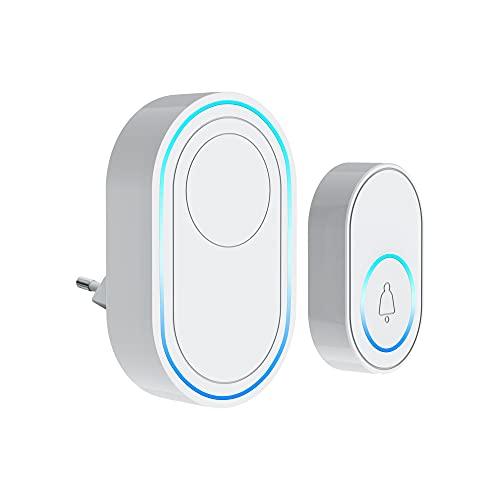 TUYA Wifi Doorbell Alarm System Intelligent Wireless Strobe Siren 58 Sound and Light Siren compatible 433MHz wireless detectors, AI Low Battery Warning, Share Wireless Alarm System