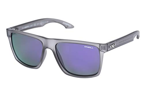 O'Neill Harlyn 165p Polarized Square Sunglasses, Matte Gray Crystal 56 mm