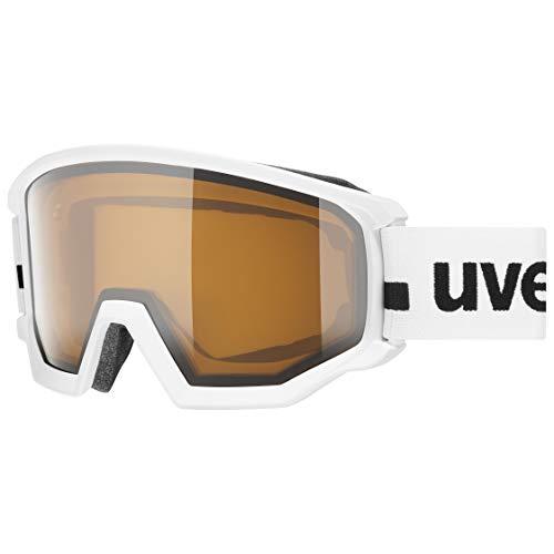uvex Unisex-Adult, athletic P ski goggles, white mat, one size