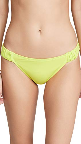 BETH RICHARDS Women's Scrunchie Bikini Bottoms, Acid, Green, X-Large