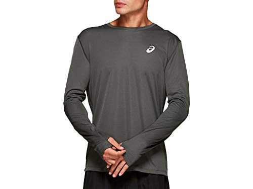 ASICS Silver Long Sleeve Running Top, Dark Grey, x Large