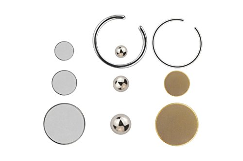 Unbekannt Fake Magnet Piercing Set 10 teilig Zungenpiercing und viele andere Körperstellen