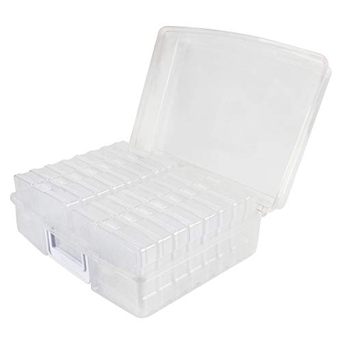 Novelinks Photo Case 4' x 6' Photo Box Storage - 16 Inner Photo Keeper Photo Organizer Cases Photos Storage Containers Box for Photos (Clear)
