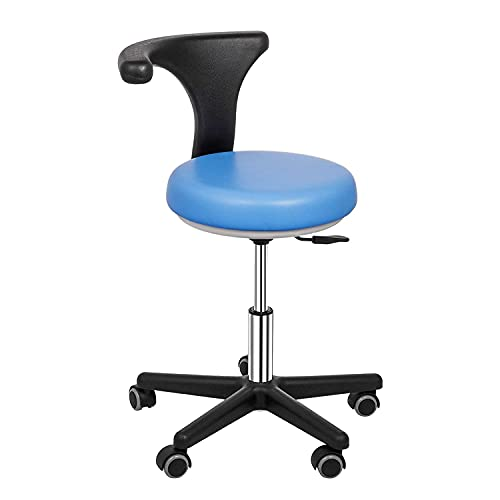 BILXXY Taburete ergonómico, Taburete Dental médico, Silla de Dentista con rotación de 360 Grados y Altura Ajustable, Alivia el Dolor de Cadera y Espalda, sillón de Masaje de salón