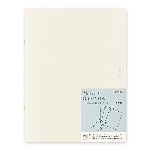 MIDORI MD Notebook Light A4 Variant (Gridded) 3 pcs/pack