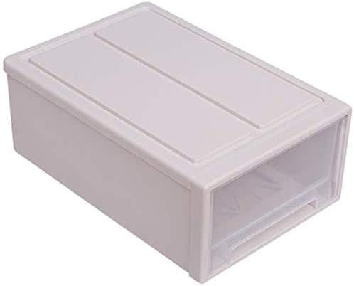 UWEL Caja de almacenamiento de zapatos de plástico tipo cajón extraíble Caja organizadora de almacenamiento de zapatos a prueba de polvo, contenedor apilable para zapatos para mujer y hombre
