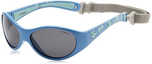 Polaroid P0401 Y2 4EY 47 Gafas de Sol, Azul (Bluette Green/Grey Pz), Unisex Niños