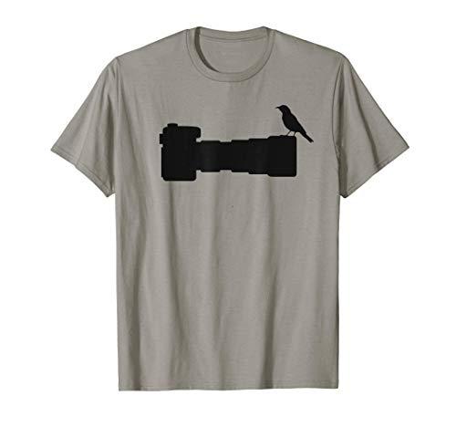 Bird on Long Lens Camera Bird Photographer Photography T-Shirt