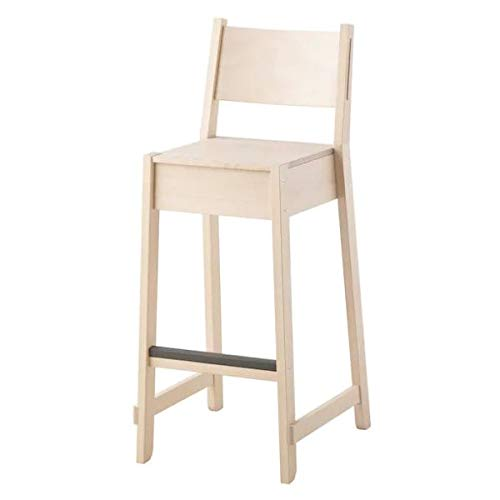 Ikea Norraker - Taburete de bar (abedul macizo, apilable, 74...