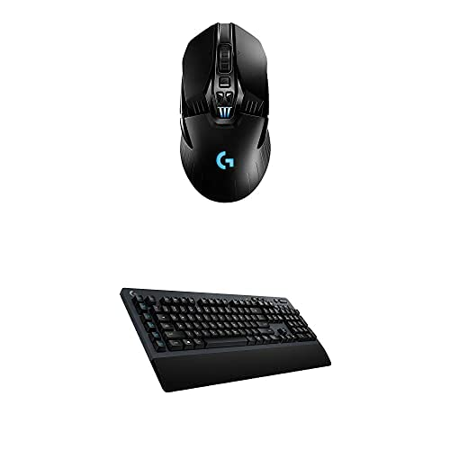 Logitech G903 Lightspeed Wireless Gaming Mouse & G613 Lightspeed Wireless Mechanical Gaming Keyboard, Multihost 2.4 GHz + Blutooth Connectivity - Black
