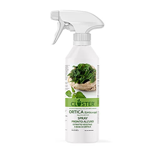 CLOSTER Macerato di Ortica Spray - Antiparassitario Insetticida Naturale, Difende Le Piante da Insetti Acari Funghi Parassiti su Fiori Rose Aromatiche Frutta per Orto e Giardino (Spray 500 ML)