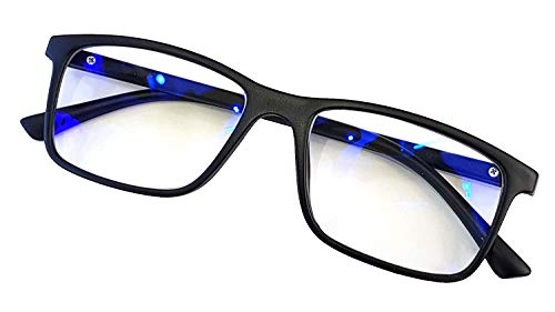 Angel Opticals BlueCut and UV PROTECTED Zero Power Spectacles Frame with Blue Ray Cut Block Anti glare Glasses for Eye Protection from Computer Tablet Laptop Mobile Eyeglasses