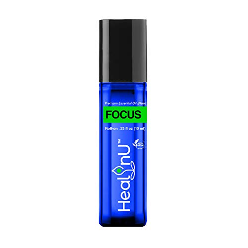 Healinu Focus Roll-On - Focus and Concentration Essential...