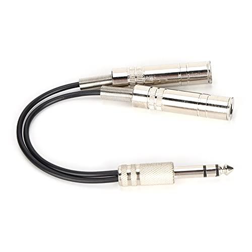 minifinker Cable De Audio Cable Estéreo, Elimina La Durabilidad Extendida Mejora De La Transmisión De Señal Adaptador Divisor En Y con Cable Paralelo para Evitar Interferencias emi/RFI(0,2 m)