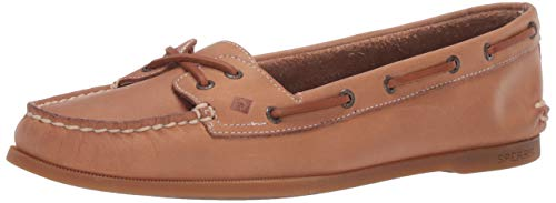 Sperry Women's A/O Skimmer Leather Boat Shoe, Sahara, 8 M US