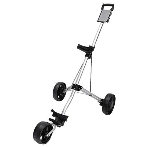 YUI Golf Trolleys 3 Rad Golf Push Cart, Golfwagen Eine Sekunde Falten Mit Kesselständer Anzeigetafel, Eine Sekunde Zum Öffnen & Schlie Super Leicht und Einfach Klappbar
