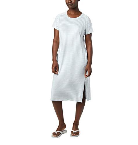 Columbia Women's Firwood Camp Tee Dress, White Medium Stripe, 1X