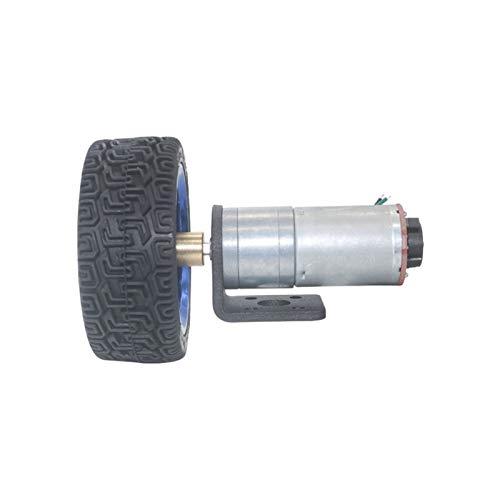 F-MINGNIAN-TOOL, 1pc señal Hall DC 6V 12V 24V 12 a 1360 RPM Miniatura Motor del Engranaje del codificador con Kit de Acoplamiento de 65 mm Rueda de Coches Smart for el Robot de Bricolaje