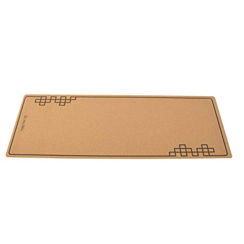 Natural Cork Yoga Mat Rubber Bottom Engraving High Absorbent Eco Friendly Greatest Grip...
