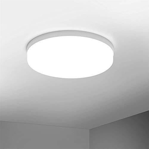 Plafón LED de Techo 48W 3840 lm Plafón Interior 6500K Blanco Frío Ø30cm Panel Redondo Iluminación 85-265V LED Lámpara de Tech para baño, Dormitorio, Pasillo, Cocina [Clase energética A+]