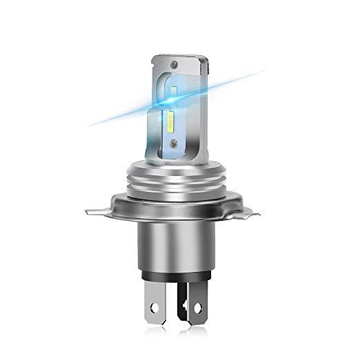 OPL5 Ampoule H4/HS1 LED Moto, 3600 Lumens Hi-Lo Beam Extemely Lumineux 6500K Blanc H4 LED Phare Moto, Kit de Conversion Plug and Play Etanche IP67 (1 PCS)
