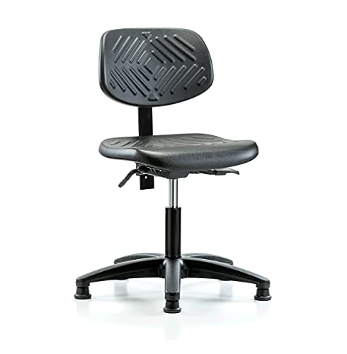 Perch Ergonomic Industrial Chair with Stationary Caps, Desk Height