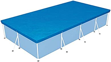 MRT SUPPLY 157 x 83 Inch Above Ground Swimming Pool Tarp Cover for Steel Pro Pool with Ebook