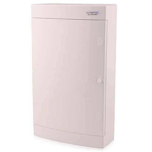 Sicherungskasten Aufputz IP40 Verteiler Gehäuse 3-reihig bis 36 Module Weißer Tür für die Trockenraum Installation im Haus