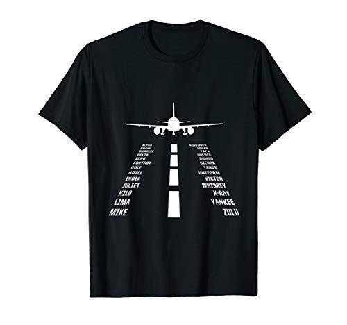 Flugzeug Pilotenalphabet Pilot Fliegen Flug Xmas Geschenk T-Shirt