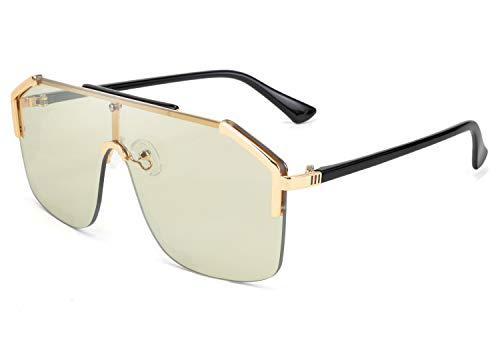 FEISEDY Gafas de sol clásicas con montura grande, protección UV400, para hombre y mujer, B2634