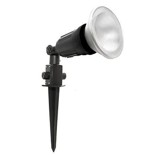 Faretto LED picchetto orientabile paletto giardino lampadina spot 15W IP65 E27
