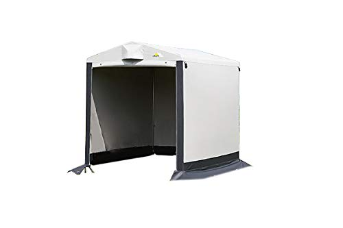 dwt Gerätezelt Store 170 x 205 cm Beistellzelt freistehend Outdoor Wohnwagen Lagerzelt Fahrradgarage wasserdicht Caravan Zelt