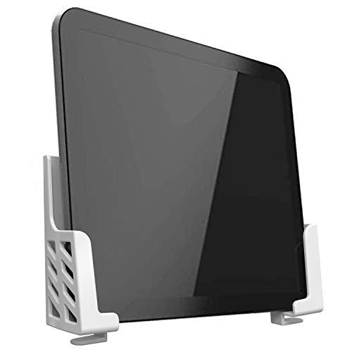 sciuU Supporto da Parete Universale per Tablet/Smartphone/eReader/Telecomando, compatibile con iPad Samsung Google Surface Huawei Honor, Installazione con 3M Adesivo o Viti, Bianco