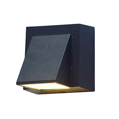 Led-buitenwandlampen, waterdicht, IP54 voor buiten, balkon, tuin, binnenplaats, decoratie, eenvoudige wandlampen, energieklasse A ++]