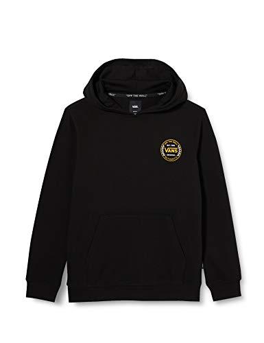 Vans Authentic Checker PO FT Sweat-Shirt À Capuche, Black, M Garçon