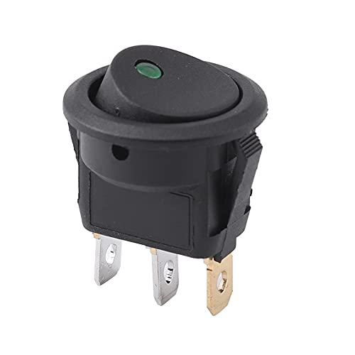 Botón de interruptor de encendido/apagado SPDT de palanca basculante redonda de 3 pines para coche Van Dash