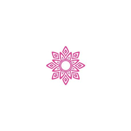 Stickers Mandala-logo 4 stickers bloem roos zelfklevend 17 cm
