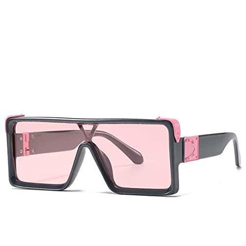 AMFG Moda Gafas de sol Caja Hombres y mujeres All-Match Gafas De Sol Al Aire Libre Travel Driving Mirror (Color : E)