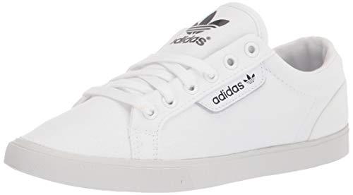 adidas Originals Tenis bajos elegantes para mujer, blanco (Blanco/Blanco vidrio/Negro), 39.5 EU