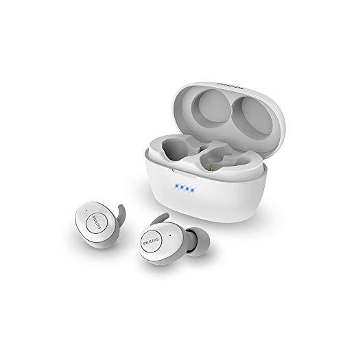 Philips True Draadloze in-ear hoofdtelefoon, bluetooth, ruisonderdrukking, smart pairing, tot 20 uur speelduur 20 uur afspeeltijd. Eén maat wit