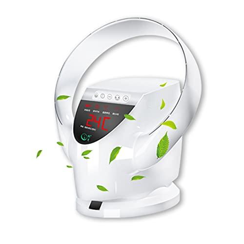 YSJX Ventilador de Escritorio oscilante,2 en 1,Ventilador de Pared Sin Aspas,con Control Remoto Ventilador de Mesa silencioso para Oficina en casa,Ventilador de sobremesa,8 Velocidades,Portátil