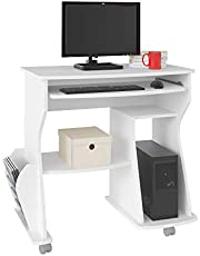 Artely 160 Computer Desk, With Space for Keyboard, CPU and Printer; White, W 88 cm x D 46 cm x H 78 cm