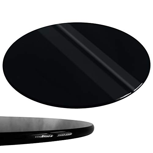 Rapid Teck® Glasplatte Rund Durchm. 800 mm SchwarzGlastisch Tischplatte aus gehärtetem Glas Tisch Glasscheibe 8mm Dick